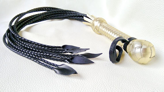 leather cat whip